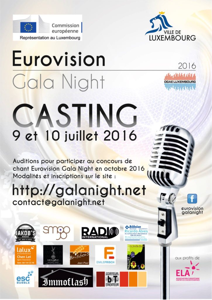Eurovision Gala Night Luxembourg 2016 poster