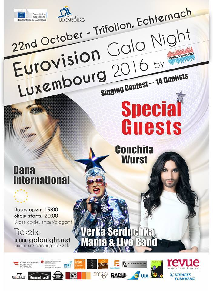 Eurovision Gala Night 2016 Poster